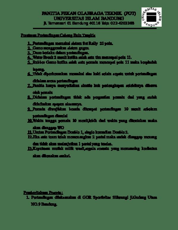 Peraturan Permainan Bulutangkis : peraturan, permainan, bulutangkis, Peraturan, Pertandingan, Cabang, Tangkis, Saputra, Academia.edu