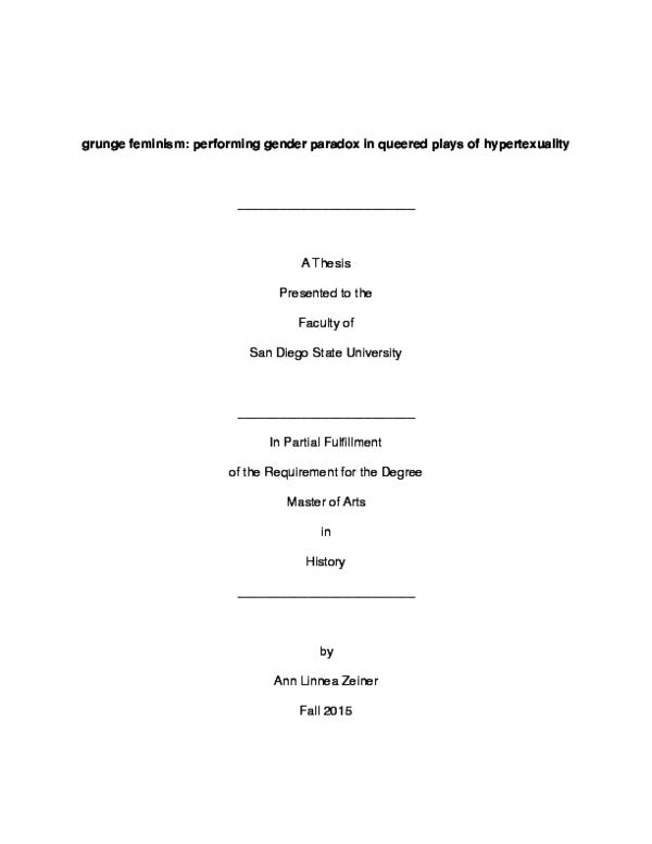 pdf grunge feminism performing