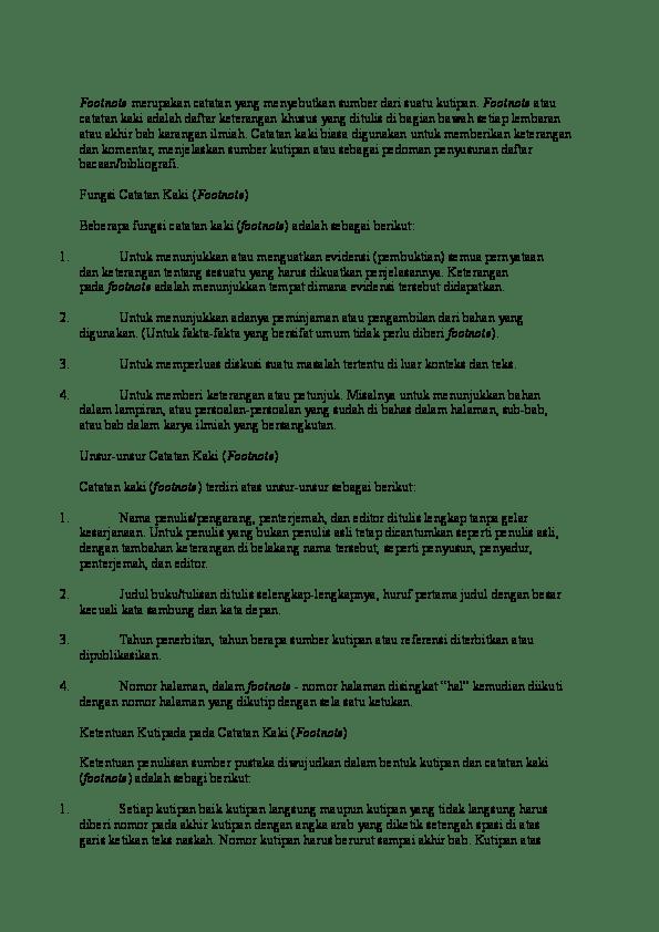 Penulisan Footnote Jurnal : penulisan, footnote, jurnal, Contoh, Footnote, Jurnal, Ilmiah, Materi, Pelajaran