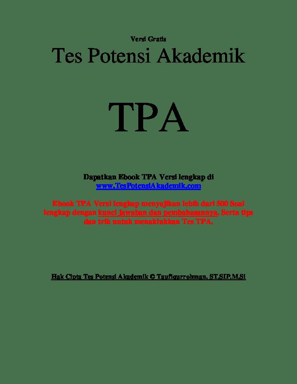 soal TPA pdf