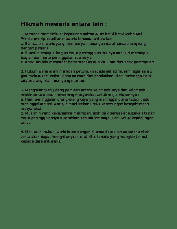 Hikmah Hukum Waris : hikmah, hukum, waris, Hikmah, Mawaris, Academia.edu