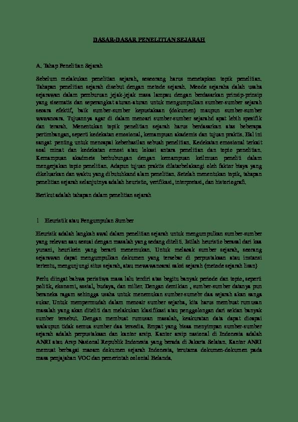 Dasar Penelitian Sejarah : dasar, penelitian, sejarah, DASAR-DASAR, PENELITIAN, SEJARAH, Vezmae, Academia.edu