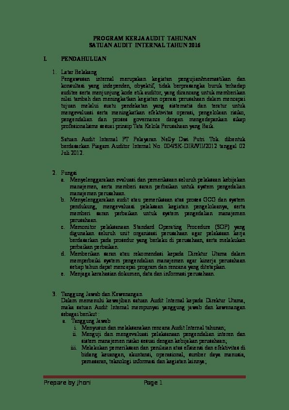 Contoh Pokok Pokok Laporan : contoh, pokok, laporan, Contoh, Laporan, Pelaksanaan, Pokok, Hasil, Audit, Intern, Kumpulan