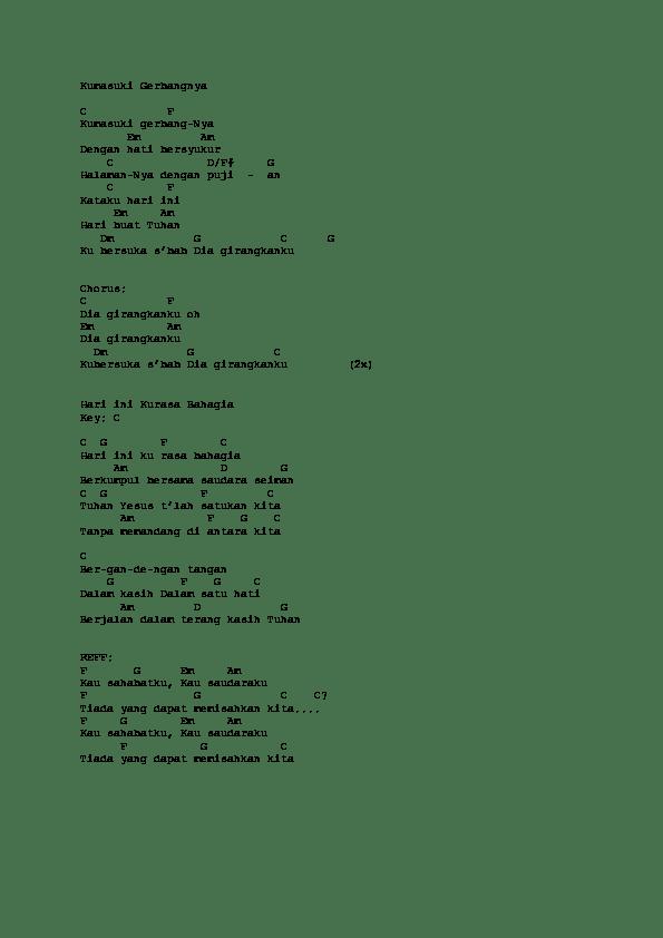 Lirik Kumasuki Gerbangnya : lirik, kumasuki, gerbangnya, Kumasuki, Gerbangnya, Ronaldo, Melky, Academia.edu