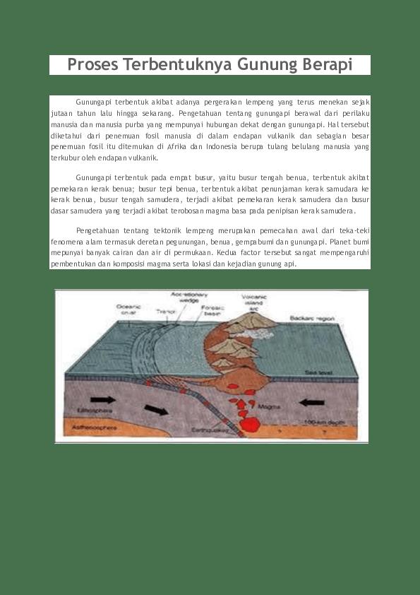 Proses Terjadinya Gunung Meletus Secara Singkat : proses, terjadinya, gunung, meletus, secara, singkat, Proses, Terbentuknya, Gunung, Berapi, Anwar, Saputra, Siregar, Academia.edu