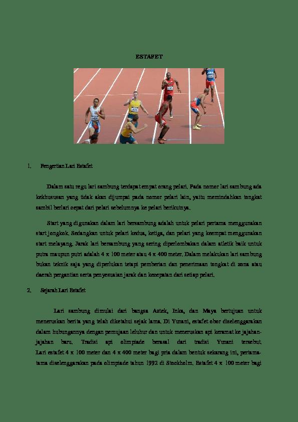 Start Yang Digunakan Oleh Pelari Ke 2 Dalam Lomba Lari Estafet Adalah : start, digunakan, pelari, dalam, lomba, estafet, adalah, ESTAFET, Academia.edu