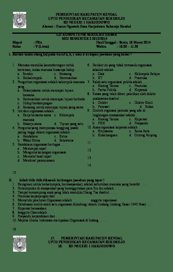 Contoh Soal Akm Sd Bahasa Inggris Id Revisi