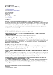 PDF REVIEWS AND TESTIMONIALS for Aesthetic Journalism book Alfredo Cramerotti Academia edu