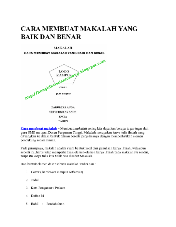 Download Contoh Makalah Yang Baik Dan Benar Pdf : download, contoh, makalah, benar, Contoh, Makalah, Nanda, Gasela, Academia.edu