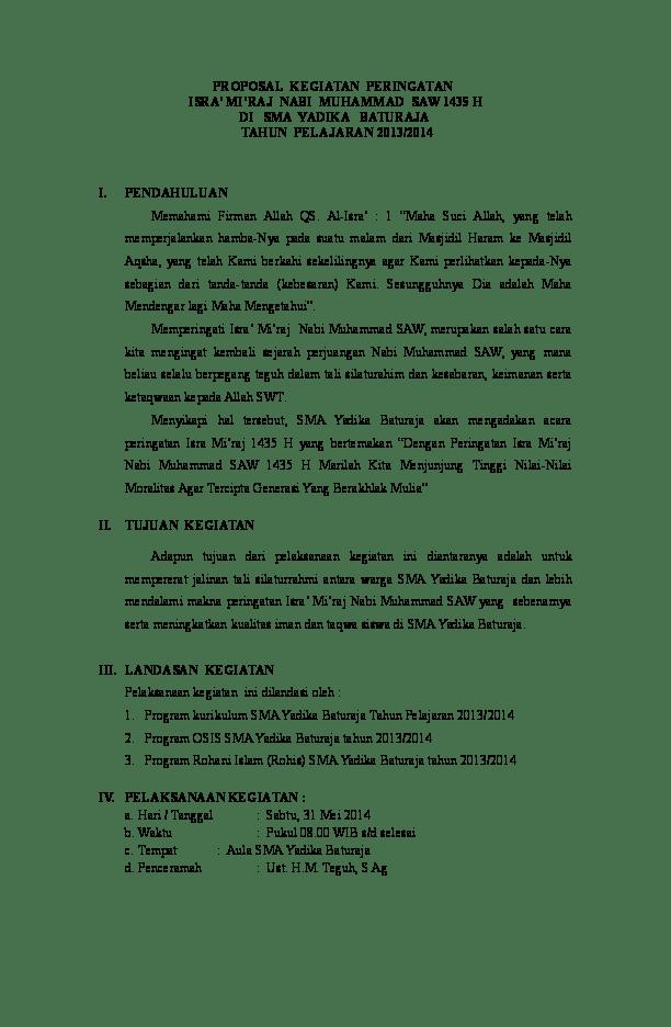 Proposal Isra Miraj : proposal, miraj, PROPOSAL, KEGIATAN, ISRA', MI'RAJ, MUHAMMAD, Nurleni, Firman, Academia.edu