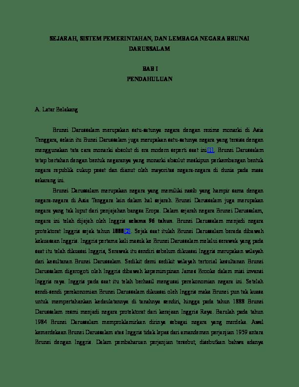 Sistem Pemerintahan Brunei Darussalam : sistem, pemerintahan, brunei, darussalam, Makalah, Sistem, Politik, Pemerintahan, Brunai, Darussalam, Fikry, Pamungkas, Academia.edu