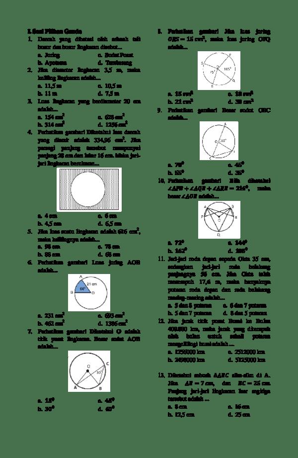 Soal Lingkaran Kelas 8 Pdf : lingkaran, kelas, Kumpulan, Lingkaran, Kelas, Download