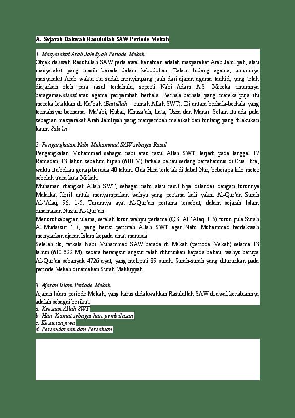 Meneladani Dakwah Rasulullah saw Periode Mekkah