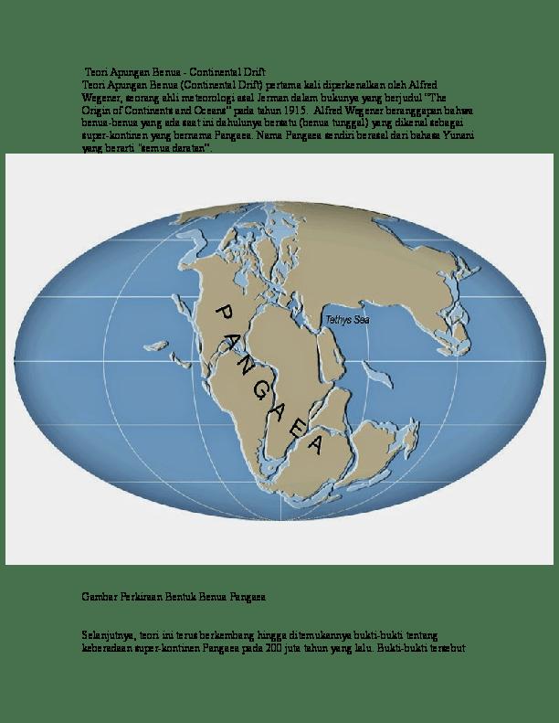 Teori Apung Benua : teori, apung, benua, Teori, Apungan, Benua, Geografi, Lingkungan, Academia.edu