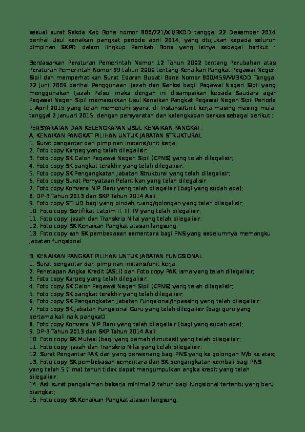 Syarat Kenaikan Pangkat Guru Dari 3a Ke 3b : syarat, kenaikan, pangkat, Contoh, Dupak, Barisan