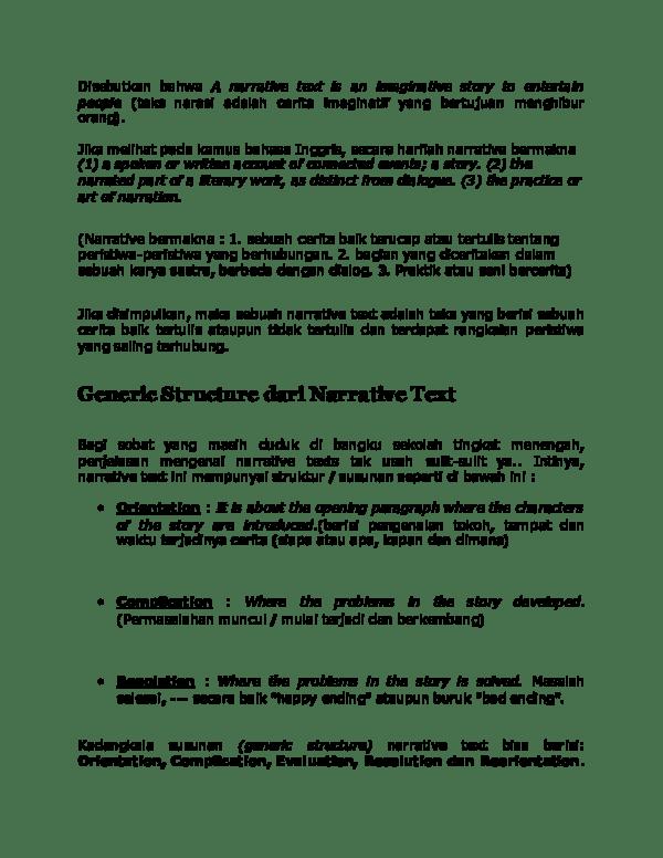 Teks Narasi Bahasa Inggris : narasi, bahasa, inggris, Narative, Academia.edu
