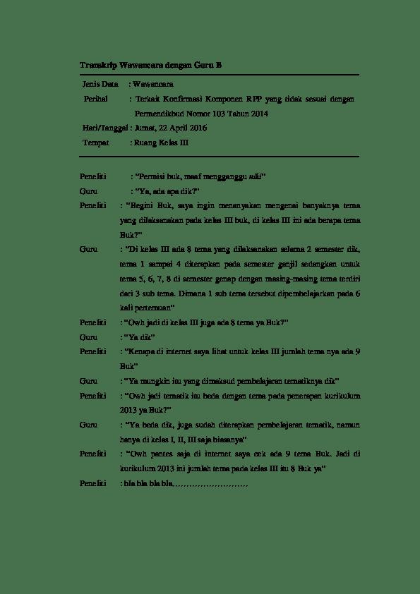 Transkrip Wawancara Skripsi : transkrip, wawancara, skripsi, Transkrip, Wawancara, Arnawa, Riana, Academia.edu
