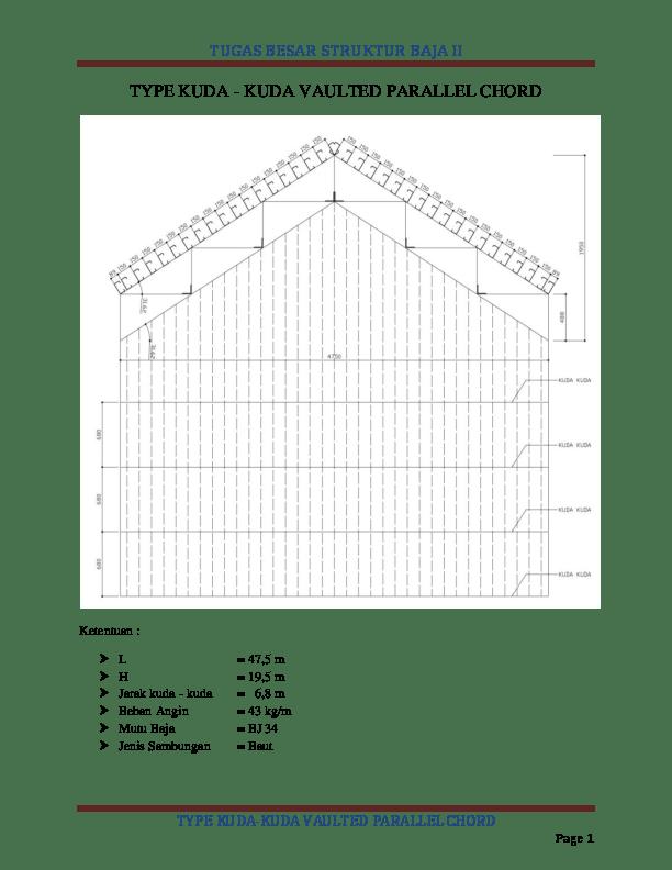 kuda baja ringan bentang 15 m pdf tugas besar struktur ii type vaulted parallel