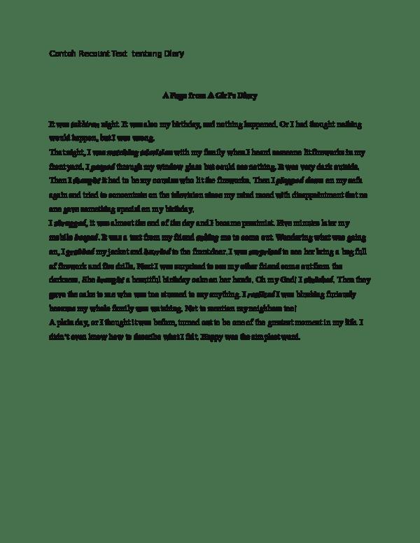 Contoh Recount Text : contoh, recount, Contoh, Recount, Tentang, Diary, Waroeng, Academia.edu