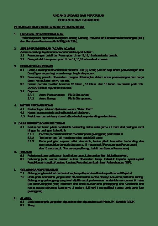 Peraturan Permainan Bulutangkis : peraturan, permainan, bulutangkis, Peraturan, Permainan, Badminton, Sxux.viemaes.site