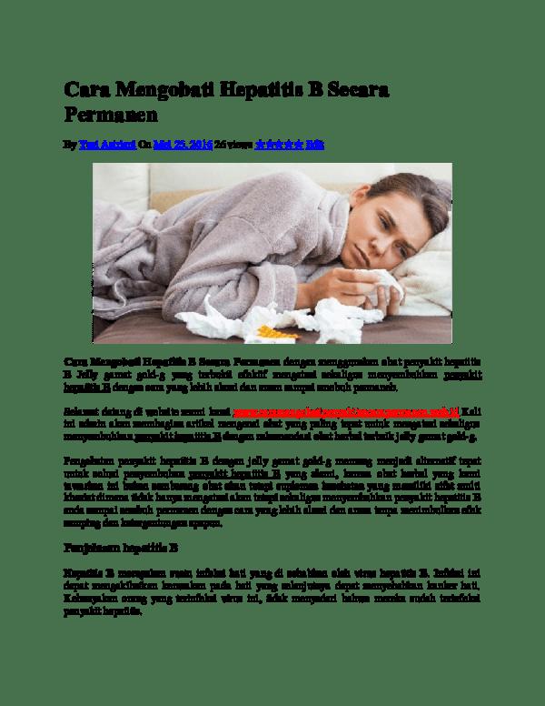 DOC) Cara Mengobati Hepatitis B Secara Permanen   Yuni Astriani ...