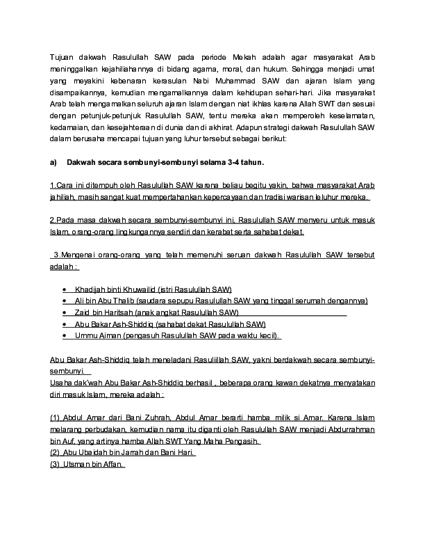 Strategi Dakwah Rasulullah Saw : strategi, dakwah, rasulullah, Strategi, Dakwah, Rasulullah, Farhan, Nabil, Academia.edu