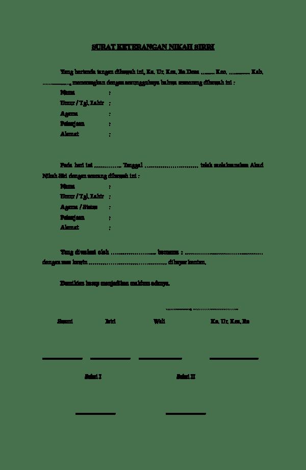 Surat Pernyataan Nikah : surat, pernyataan, nikah, Surat, Keterangan, Nikah, Sirri, Khalida, Academia.edu