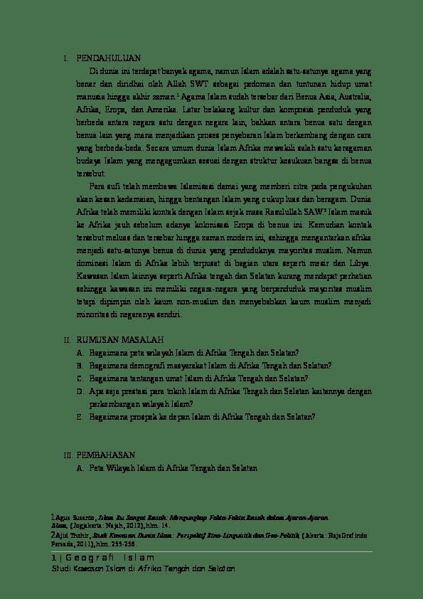 Sejarah Perkembangan Islam Di Afrika : sejarah, perkembangan, islam, afrika, Islam, Afrika, Tengah, Fatim, Fatimah, Academia.edu