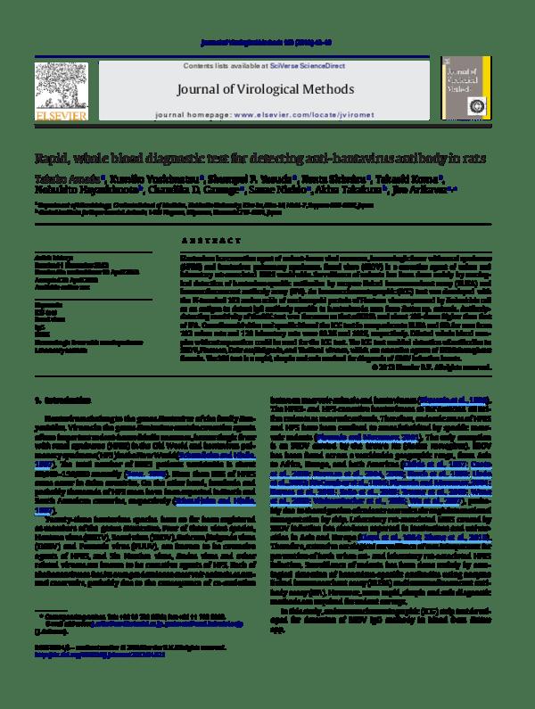 PDF) Rapid, whole blood diagnostic test for detecting anti ...
