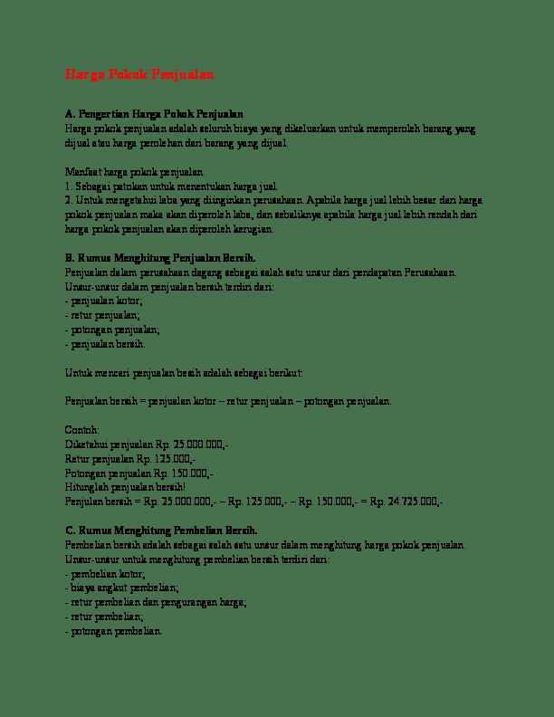 Menghitung Pembelian Bersih : menghitung, pembelian, bersih, Harga, Pokok, Penjualan, Erlianta, Karina, Academia.edu