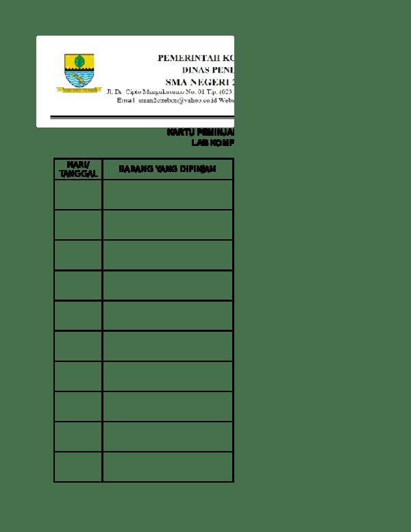 Buku Peminjaman Barang : peminjaman, barang, KARTU, PEMINJAMAN, BARANG, Farmahni, Galih, Academia.edu