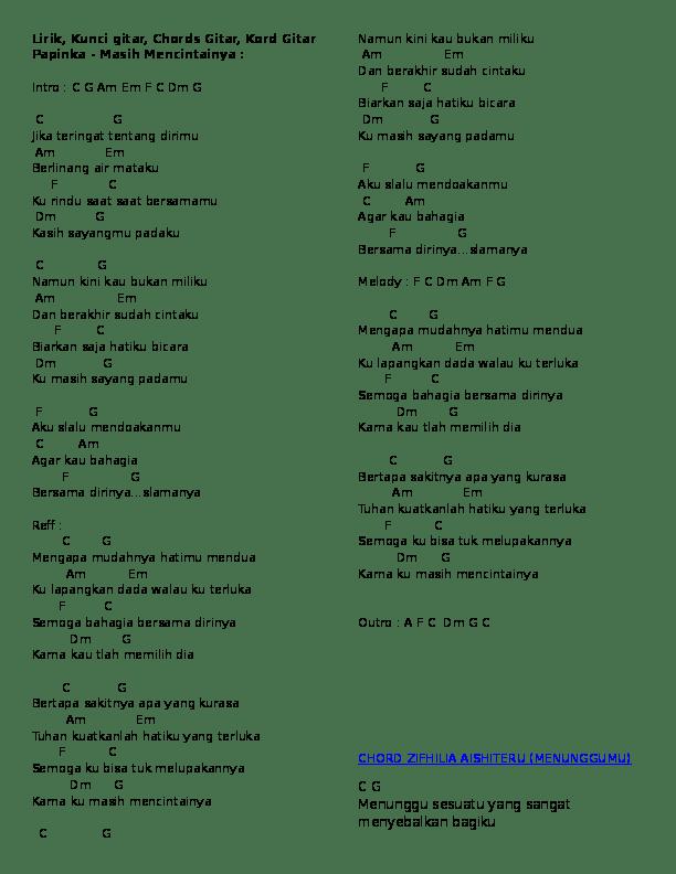 Lirik Lagu Masih Mencintainya Papinka : lirik, masih, mencintainya, papinka, Chord, Gitar, Papinka, Masih, Mencintainya