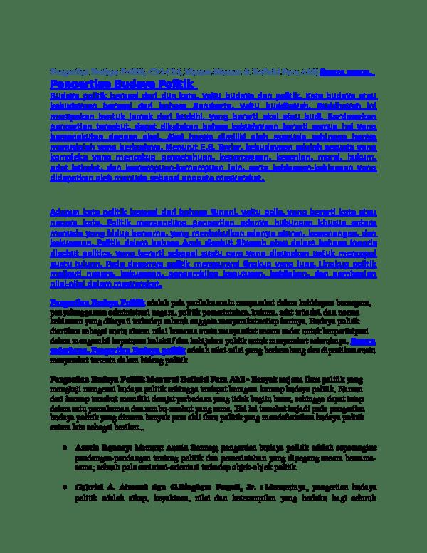 Ciri Budaya Politik Subjek : budaya, politik, subjek, Pengertian, Budaya, Politik,, Ciri-Ciri,, Macam-Macam, Definisi, Ahli|, Secara, Susilawati, Academia.edu
