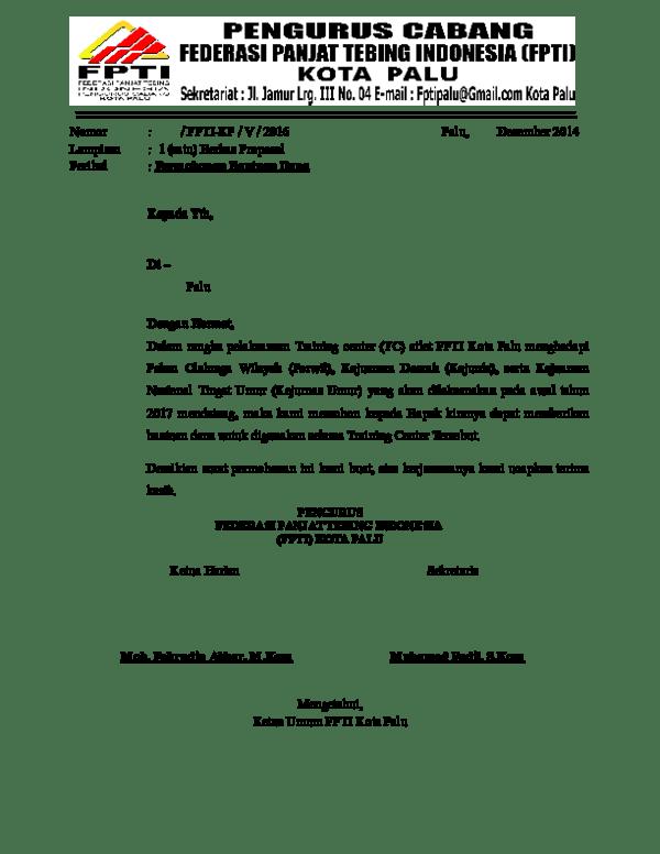 Contoh Surat Permohonan Bantuan Dana Proposal : contoh, surat, permohonan, bantuan, proposal, Surat, Proposal, Academia.edu