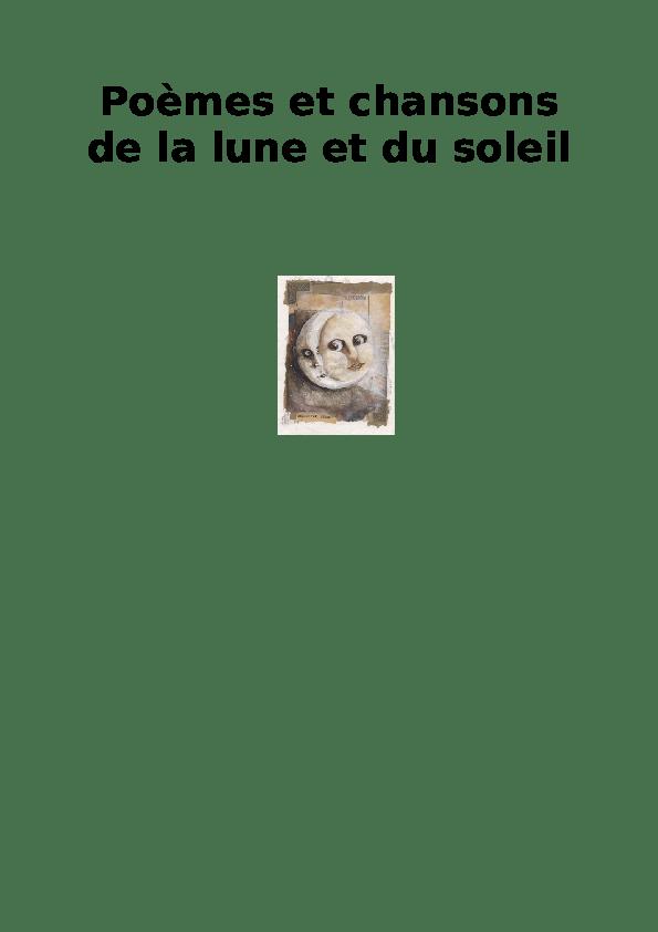 La Lune Et Le Soleil Poésie : soleil, poésie, Poèmes, Chansons, Soleil, Aurelie, Frontczyk, Academia.edu