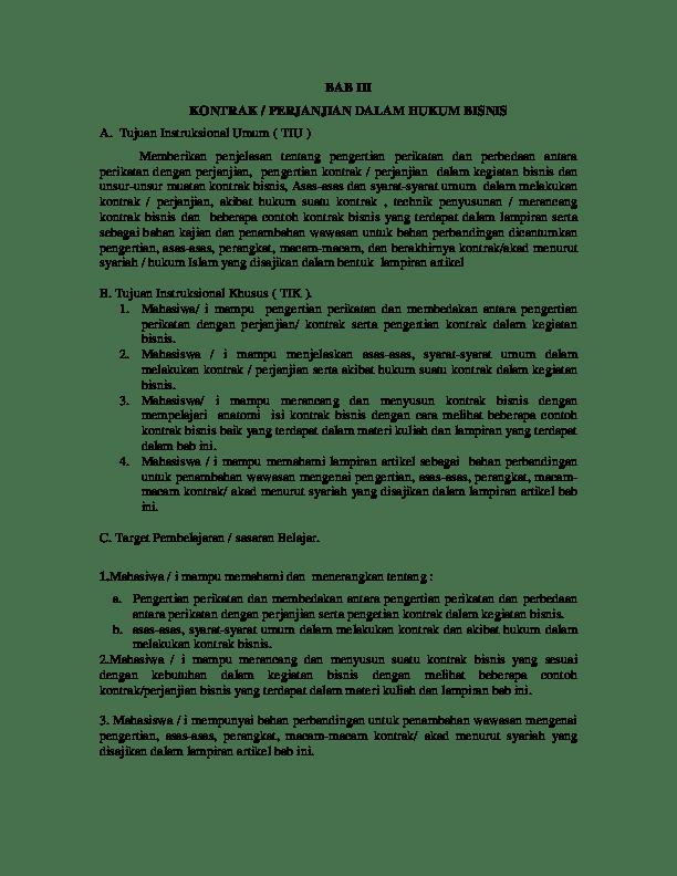 Contoh Kontrak Bisnis Pdf : contoh, kontrak, bisnis, KONTRAK, PERJANJIAN, DALAM, HUKUM, BISNIS, Luthfi, Rahiman, Academia.edu