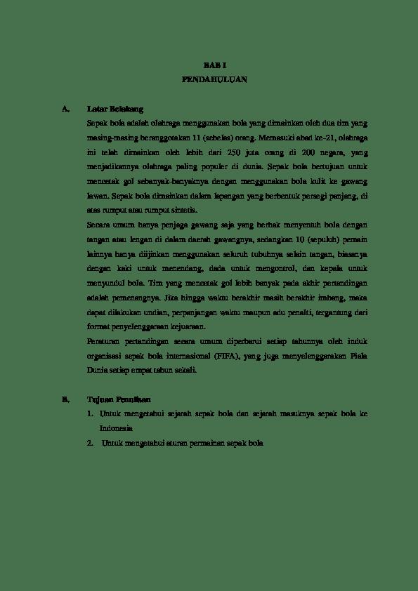 Rangkuman Materi Sepak Bola : rangkuman, materi, sepak, Makalah, Sepak, Bola.pdf, Ananda, Academia.edu