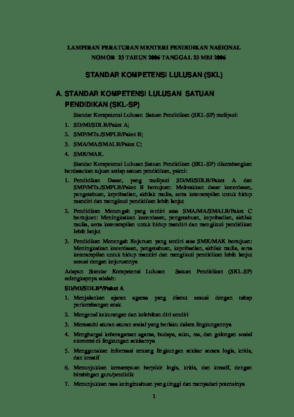 PERMENDIKBUD NO 57 TAHUN 2014 : LAMPIRAN 1 | guruKATRO