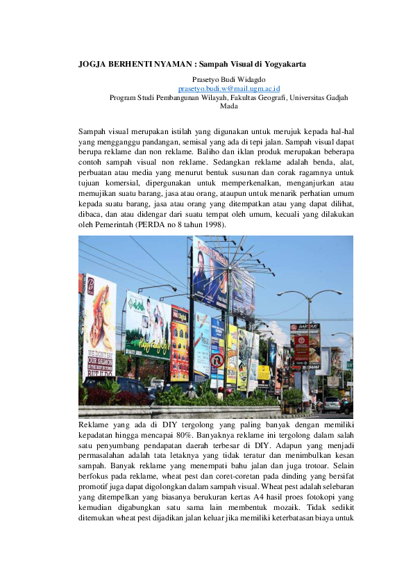 Contoh Reklame Media Visual Yang Dipasang Di Luar Ruang Cute766
