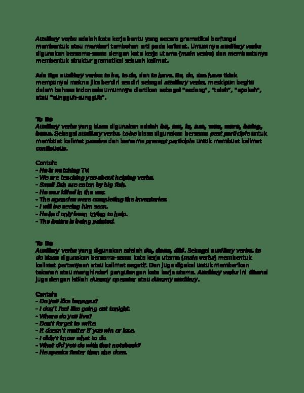 Arti Kata Only : Auxiliary, Verbs, Adalah, Dexha, Dragneel, Academia.edu