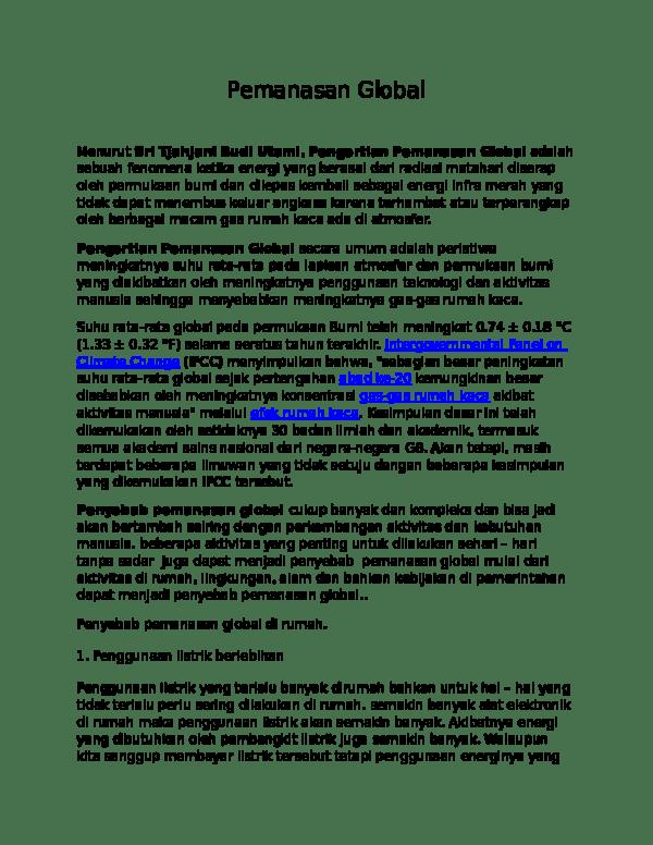 Gas Gas Penyebab Pemanasan Global : penyebab, pemanasan, global, Pemanasan, Global, Magconfan, Indonesia, Academia.edu