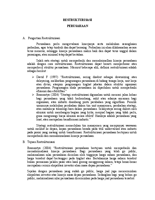 Contoh Surat Permohonan Restrukturisasi Kredit Bank Bagi ...