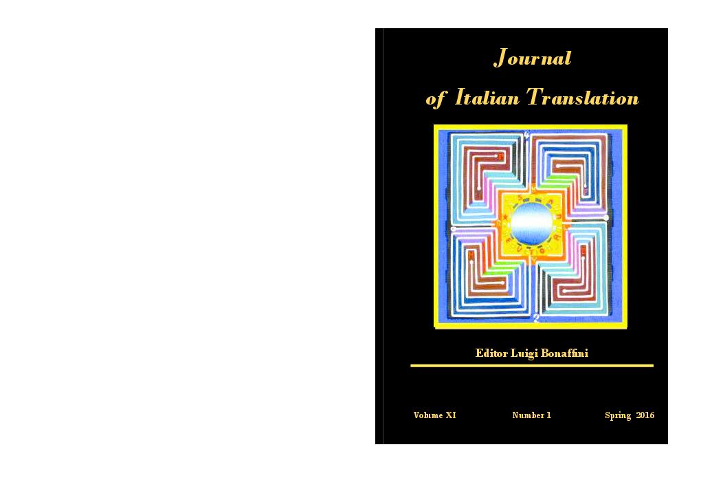 Pdf Journal Of Italian Translation Vol Xi No 1 Spring