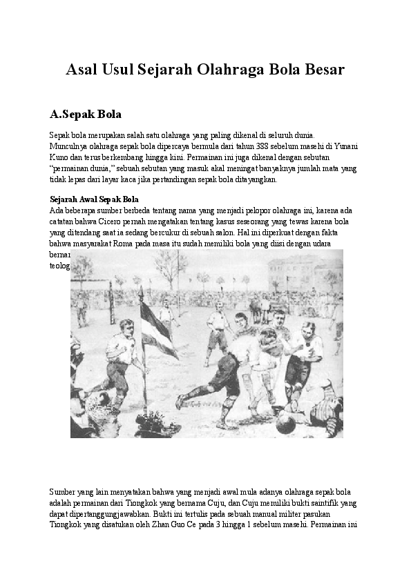 Sejarah Masuknya Sepakbola Di Indonesia : sejarah, masuknya, sepakbola, indonesia, Sejarah, Olahraga, Besar, Wirda, Academia.edu