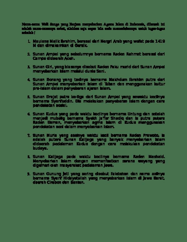 Tugas Wali Songo : tugas, songo, Nama-nama, Songo, Indah, Sukriani, Academia.edu