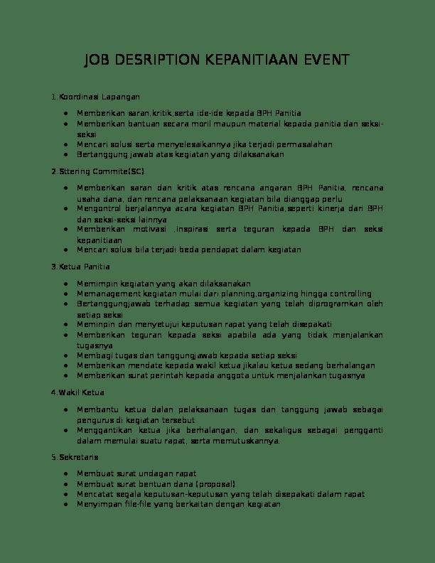 Tugas dan tanggungjawab ketua panitia mata pelajaran