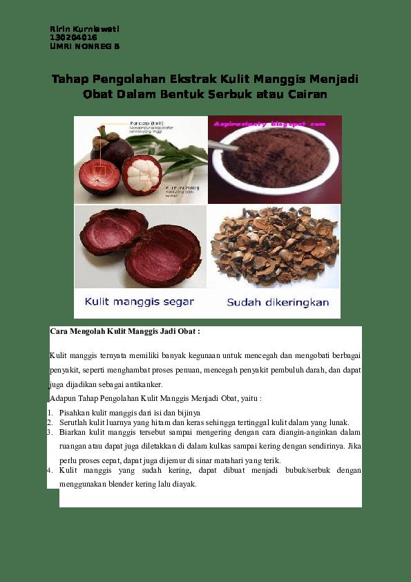 Cara Memasak Kulit Manggis : memasak, kulit, manggis, Mengolah, Kulit, Manggis, Menjadi, Informasi, Dunia, Kesehatan