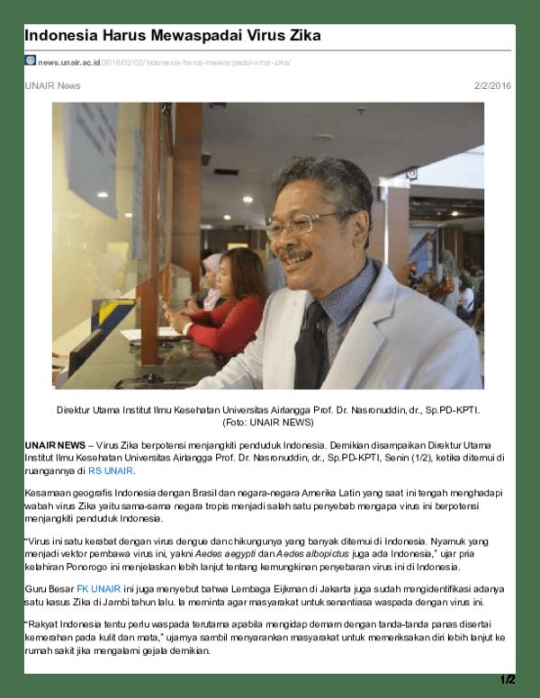 PDF) Indonesia Harus Mewaspadai Virus Zika.pdf   gifari zaka ...