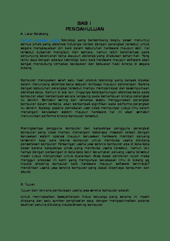Contoh Latar Belakang Dalam Proposal Usaha Berbagi Contoh Proposal Cute766