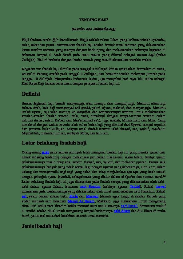 Wukuf Dilaksanakan Pada Tanggal : wukuf, dilaksanakan, tanggal, Haji-wikipedia, Pengkab, Percasi, Academia.edu